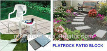 Durable Plastic garden paving Flatrock Patio Block