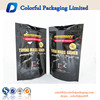 2016 hot sell glossy aluminum foil laminated whey protein packaging bags