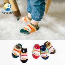 Top quality 100% cotton anti slip boat baby socks