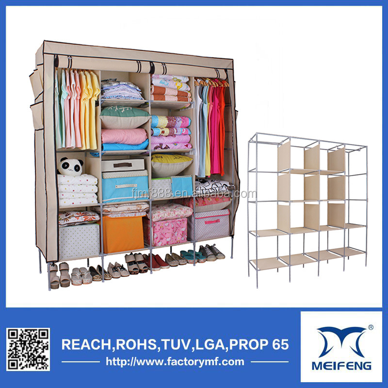 amazon hot sale folding non woven big cheap wardrobes
