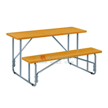 Different Types of Table Setting, Wooden School Desk and Bench, School Desk and Bench