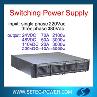 220Vac to 48Vdc telecom rectifier power system with LVD