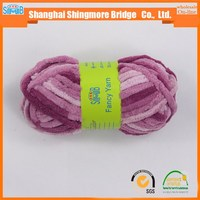 china famous fancy yarn manufacturer shingmore bridge cheap sales high quality polyester double feather yarn