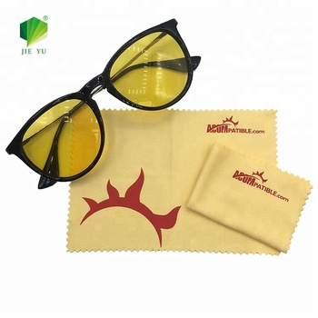 15*18cm Custom Print Microfiber Suede Glasses/Eyeglasses/Lens/Screen cleaning cloth