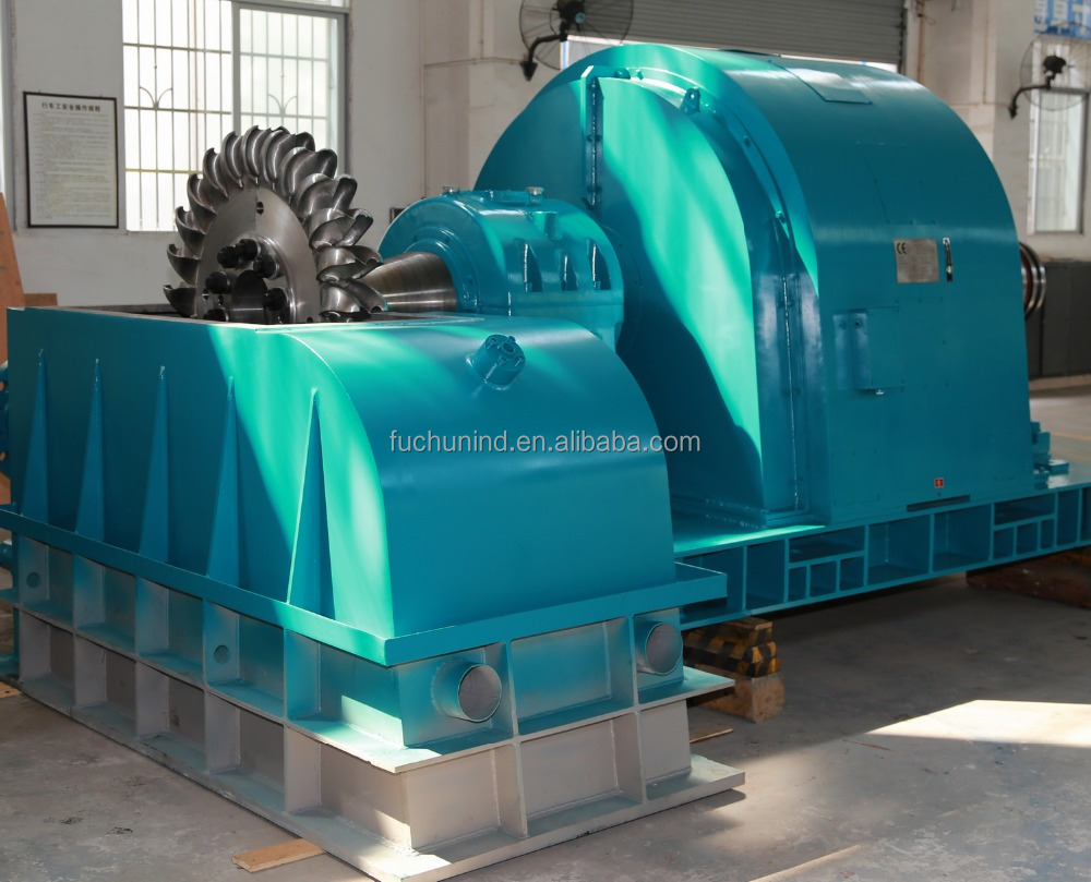 2MW High Water Head Two Nozzles Pelton Turbine for Hydro Power Plant