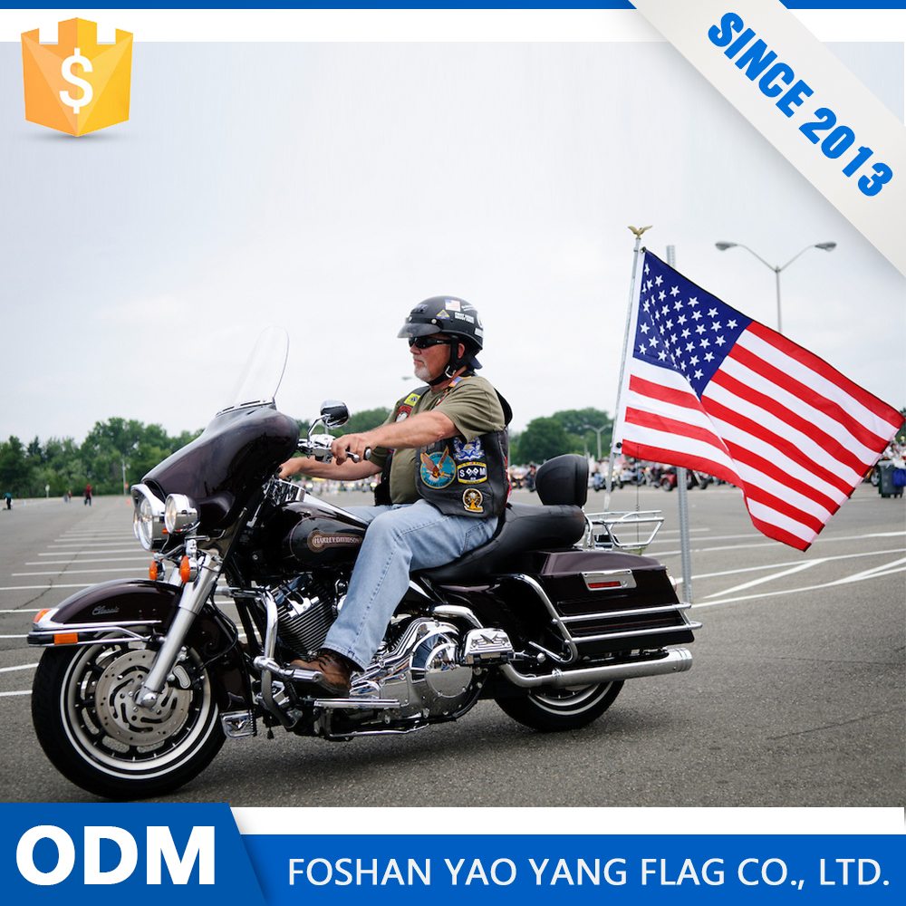 Best Sales Product Custom Polyester Flag Motorcycle
