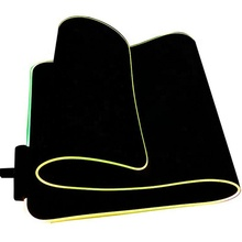 HX <strong>RGB</strong> LED larger flashing soft non-slip rubber bottom computer mouse pad