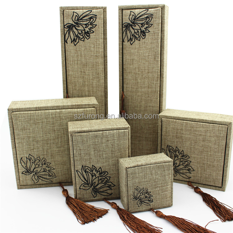 Special jute gift box for plaques senior university students best products of alibaba
