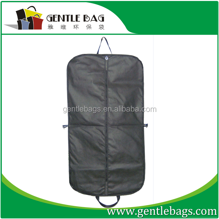 Black zipper garment bags,laptop Garment Bag carry on luggage