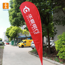 TJ Promotional custom design Tear Drop Flag produce advertising feather flags