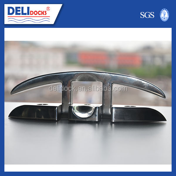 Stainless steel 316 Marine Fold Down Cleat 6""