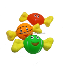 2017 Hot selling pet toy New style smile sportball bone vinyl dog toys