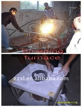 Medium frequency induction industrial melting furnace