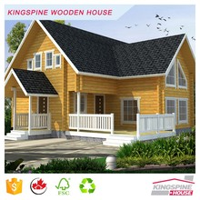 Low price Prefab wooden house log chalet China factory supplier KPL-017