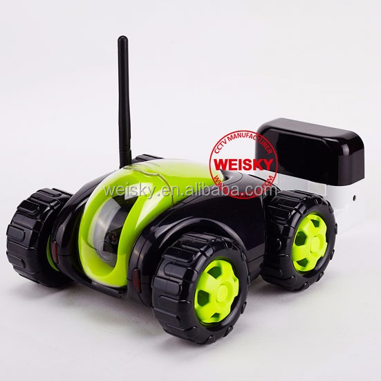 Popular household camera!!! RC smart phone/pad controlling real-time video spy tank rc car with camera