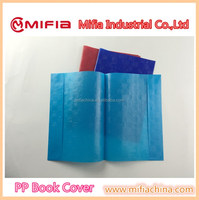 custom school pp a4 size plastic book covering sheet for exercise book