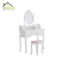 Cheap simple dressing table with cupboard , vanity dressing table mirror with drawer