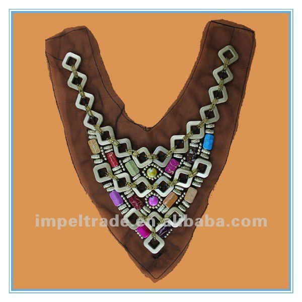Furby-style 2012 handwork embroidery designs collar necklace
