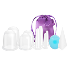 Transparent Silicone Cupping Set for Chinese traditional Cupping and Massage Therapy