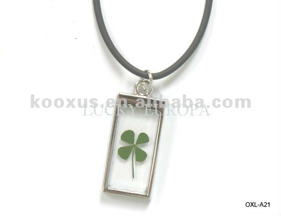 Good Luck four leaf clovers lucky jewelry
