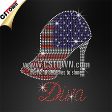 Boots Diva USA Rhinestone Iron Ons for T Shirt Design