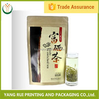 Newest biodegradable tea bag material,ziplock plastic packing tea bag,plastic stand up tea bag