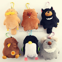 Forest Animal Plush Keychain/Keyring candice guo! cute cartoon Wombat family koala bear platypus penguin plush toy doll bag smal