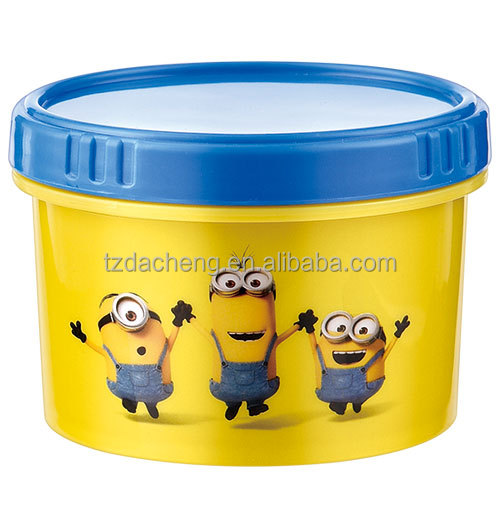 High Quality Professional Manufacture 3D Plastic Snack Pot, FDA Snack Box