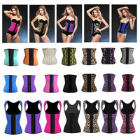 Sex Underwear corset bustier Shapers Women latex waist trainers