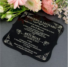 elegant fancy design wedding acrylic invitation card