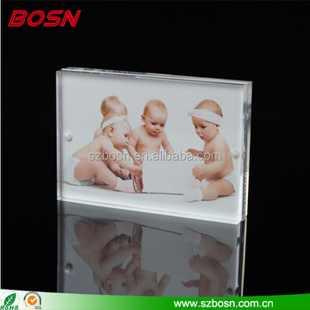 Wholesale clear 8X10 custom acrylic baby photo picture frame