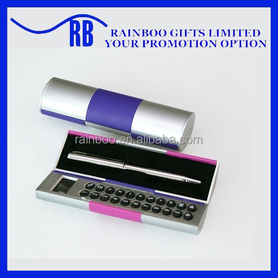 Hot selling logo printed cheap calculator pen for promotion