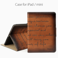 Wholesale leather case for ipad mini for genuine leather iPad cae