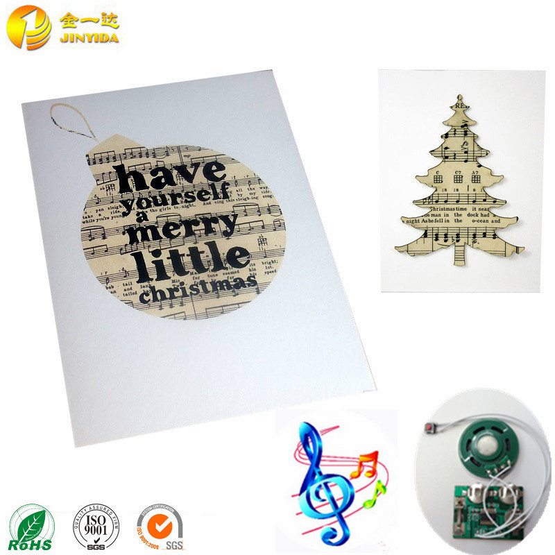 Creative design innovative electronic musical singing christmas cards