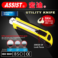 ASSIST Brand Utility Knife. 18mm Blade Heavy Duty Knife Industrial/ Home Improvement Sliding Blade utility Knife