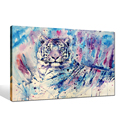 Wall Decor Animal Art Tiger Portrait Painting Print Home Decor Painting Canvas