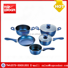 Cookware factory aluminium forged electric color non-stick cookware