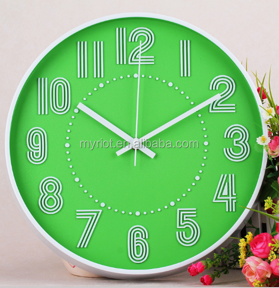Round shape home decoration wall clock