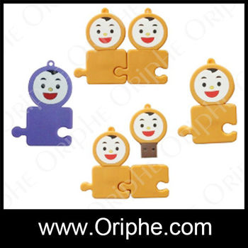 Local products, wholesale,lovely double monkey 128 gb usb flash drive