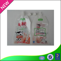 yogurt special laminated material packaging plastic bag spout pouch