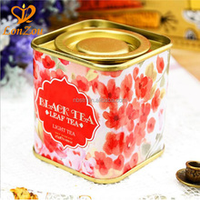 Metal tin can food grade packaging storage containers round square popcorn black tea tin
