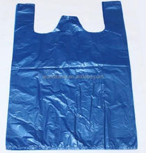 Customize HDPE biodegradable t shirt bag on roll wholesale T-shirt shopping plastic bag supplier
