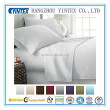 Popular solid color polyester microfiber bed sheets