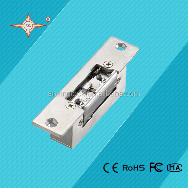iron / stainless steel short plate electric strike lock safe electronic lock
