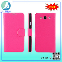 Wholesale Lichi leather purse funny case for samsung galaxy s3 i9300
