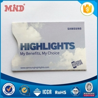 MDBS013 travel RFID blocking sleeve plastic card sleeves rfid passport protector
