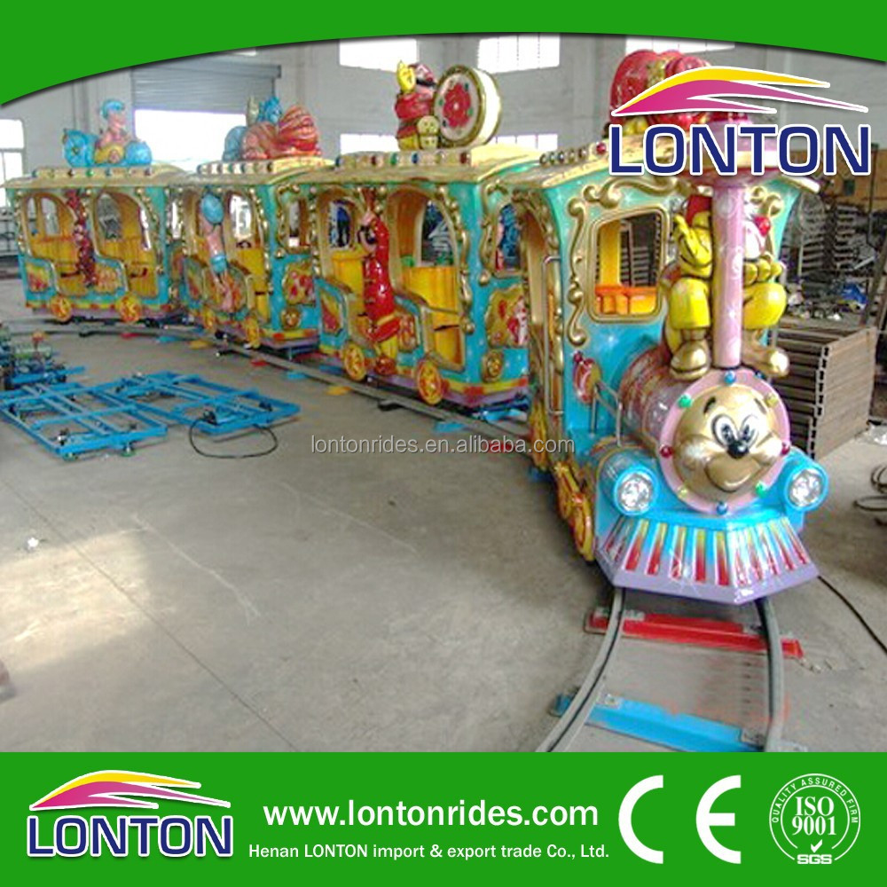 Alibaba china fr 14 seats luxury forest track train amusement game rides for sale