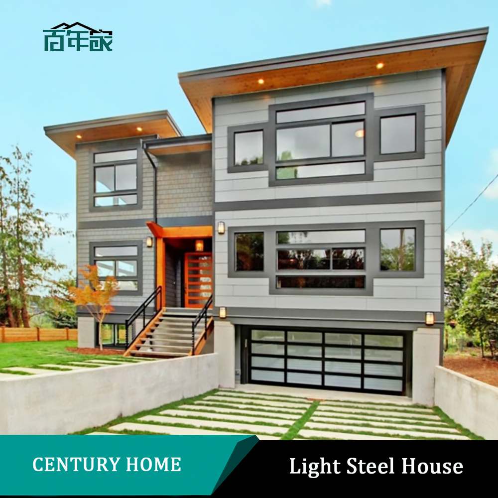 Luxury Prefabricated Steel Structure Villa, Nepal Low Cost Prefab House