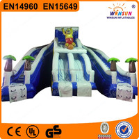 2015 high quality cheap small size commercial inflatable/children inflatable pool with slide
