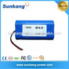 Rechargeable 18650 lithium 7.3v 2600mah li polymer battery pack